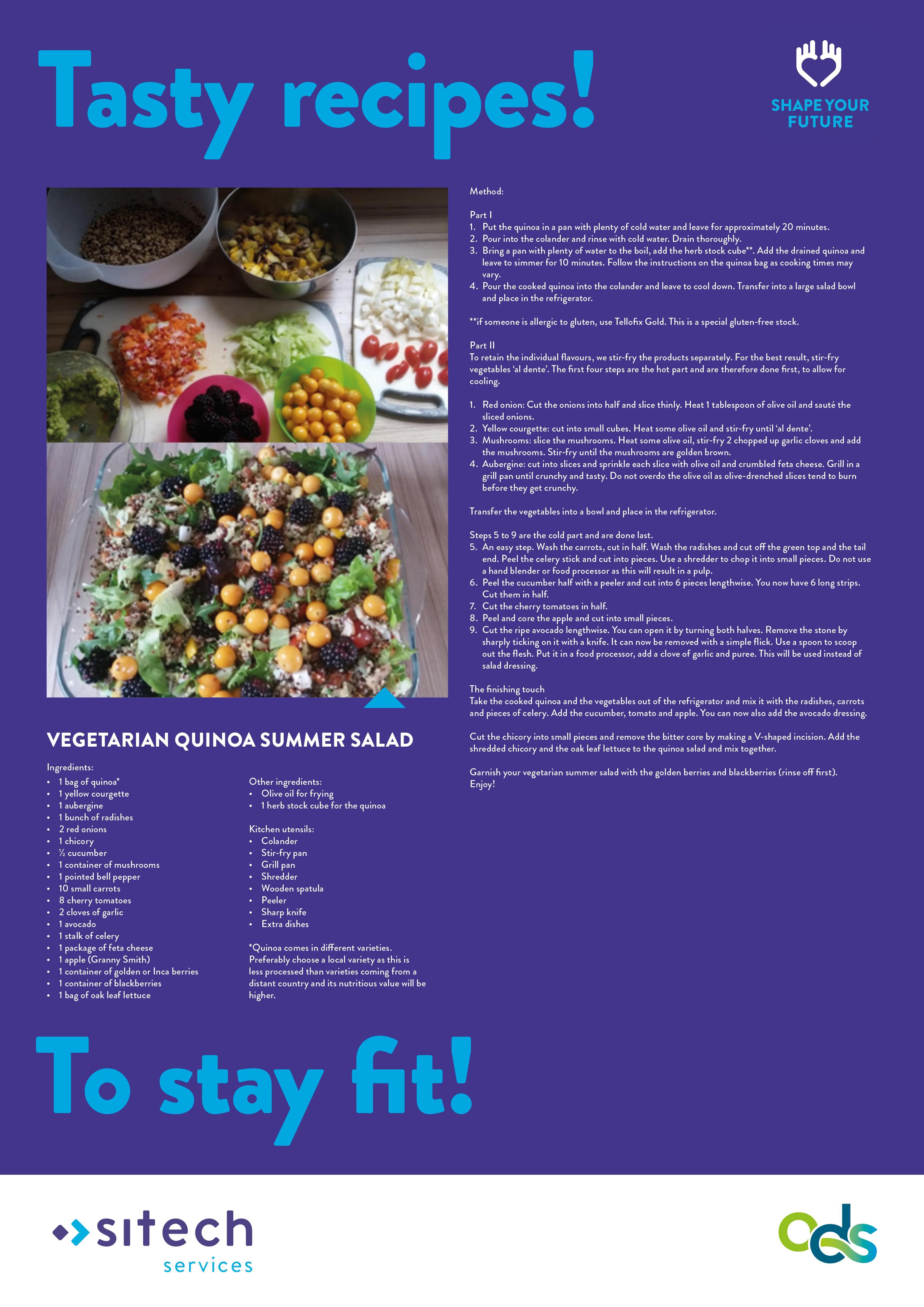 19-167 ODS 19-106 poster quinoa zomersalade ENG
