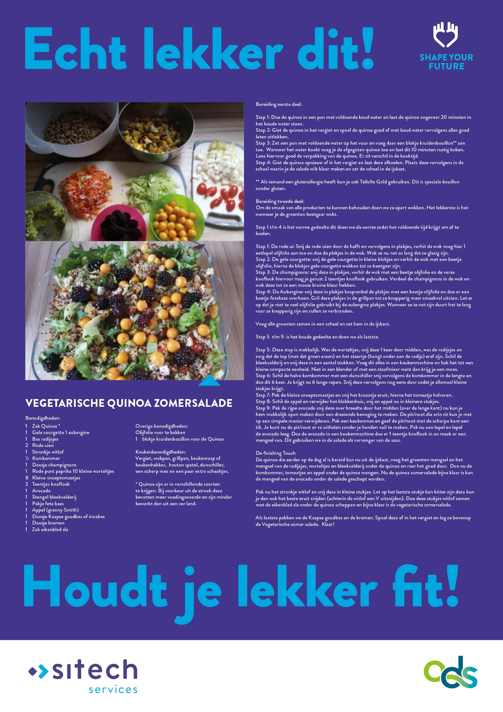 poster quinoa zomersalade